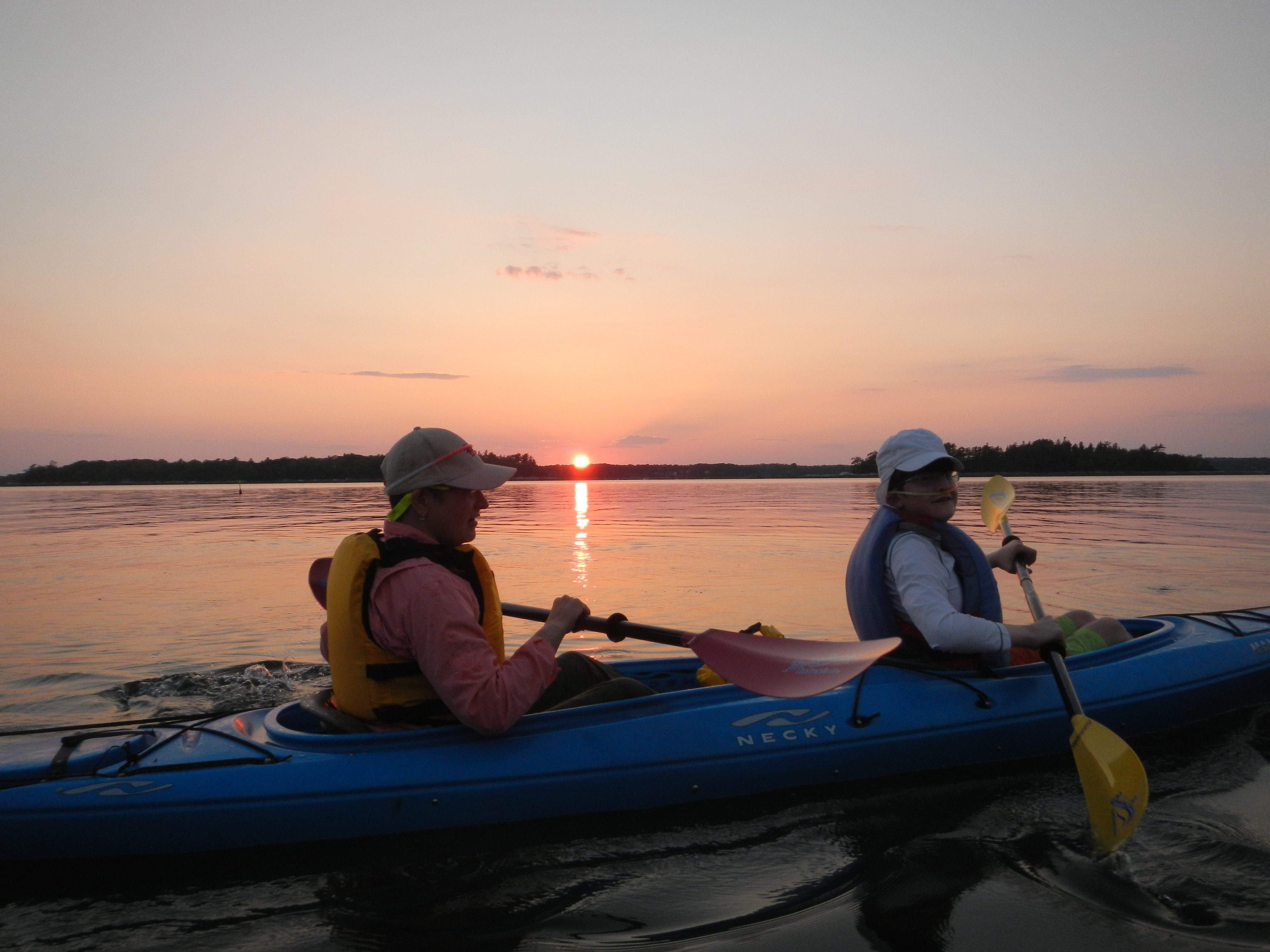 Sunset paddling is the best!