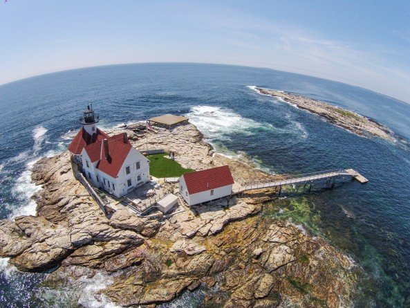 Awesome Aerial Photo of Cuckolds Lighthouse