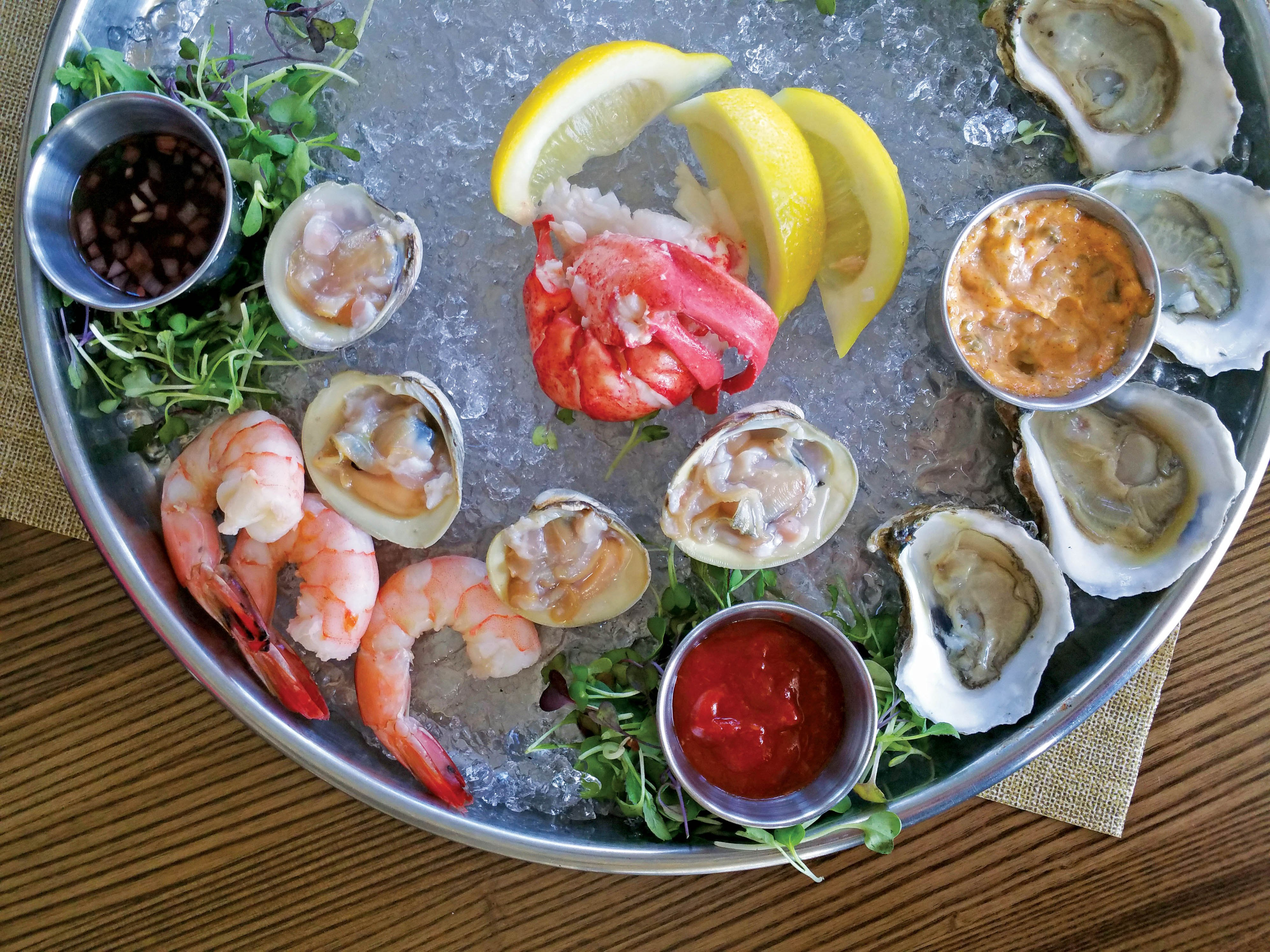 We offer raw bar items which may change seasonally.