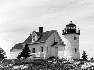 Historic Coast Guard photo of Pumpkin Island light.