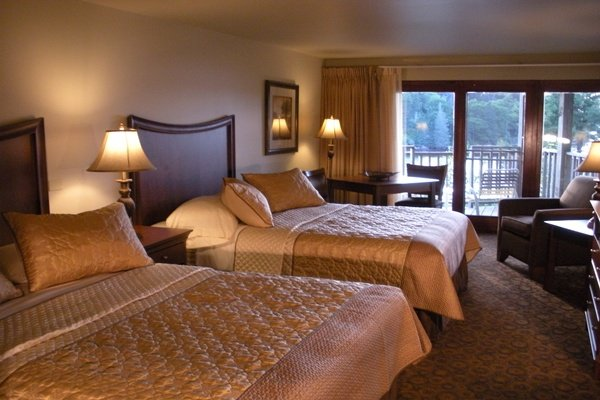Beautiful guestrooms with private, water view balconies
