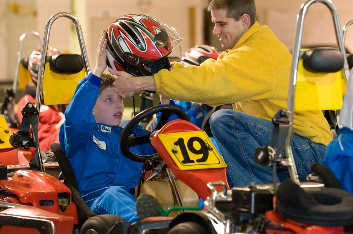JR. RACER PREPARING FOR THE SAFETY COURSE