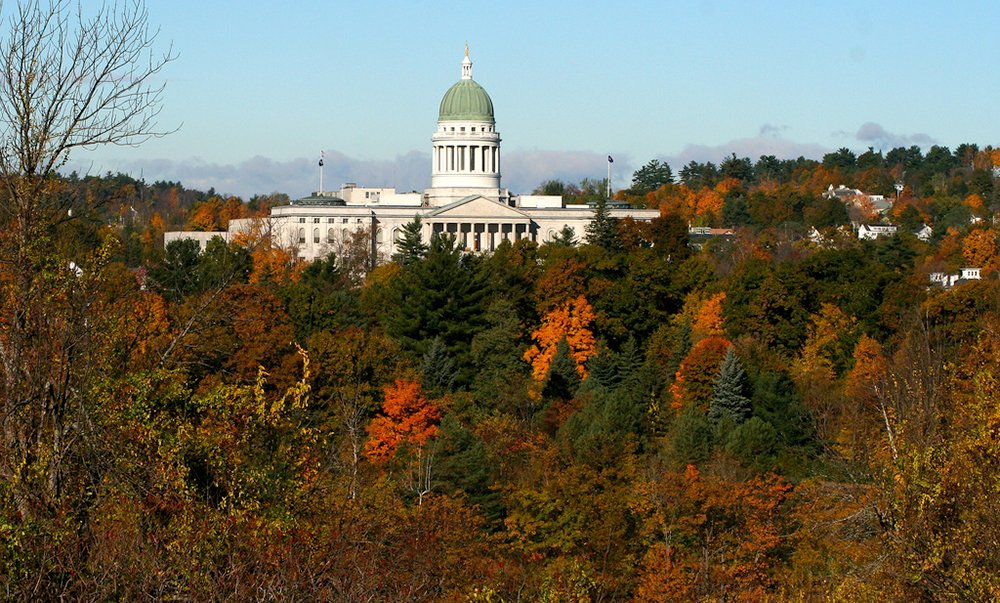 The Maine Capitol Building in Augusta, ME