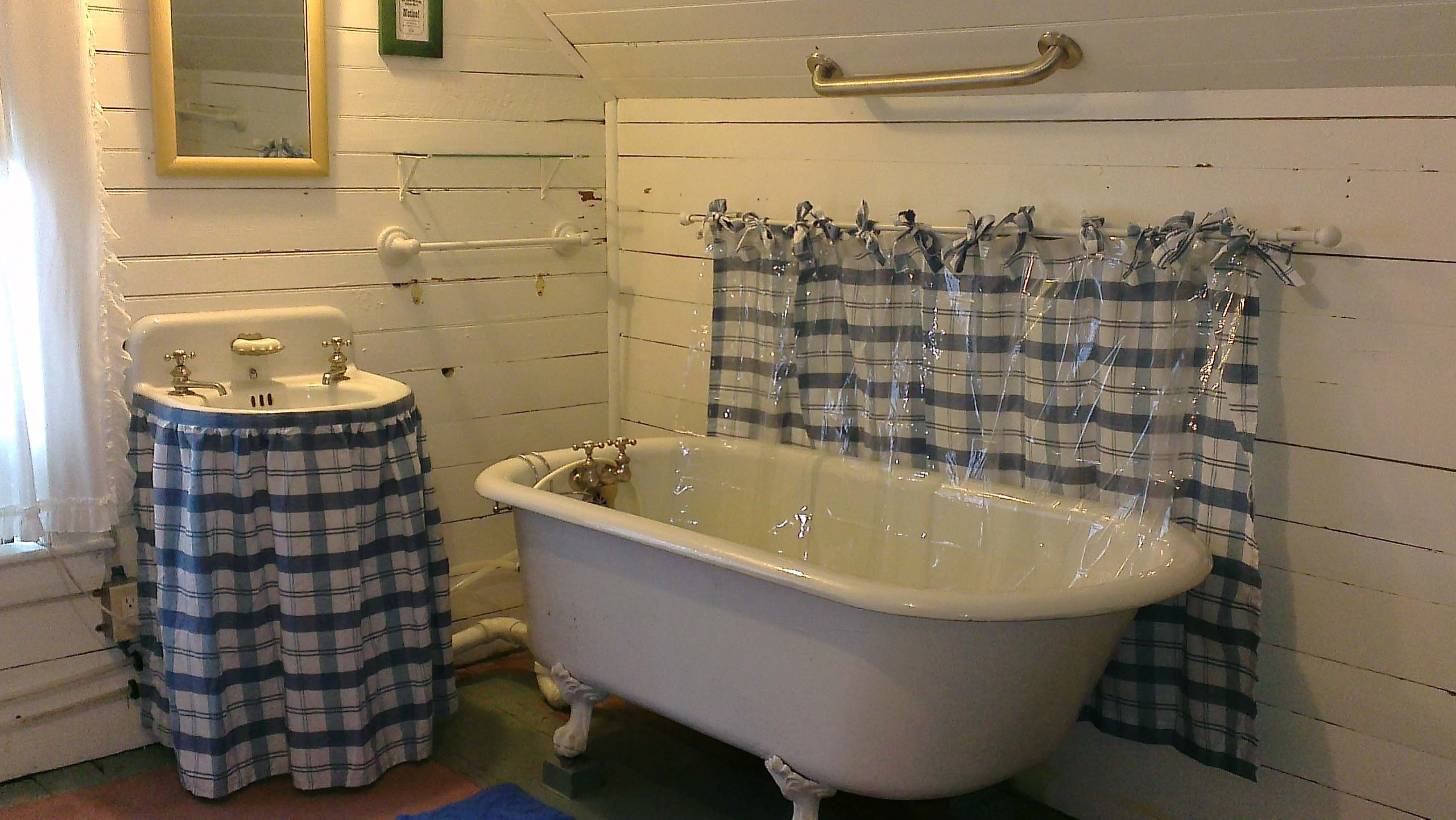 This is one of the shared bathrooms. The other one has a tub and shower.