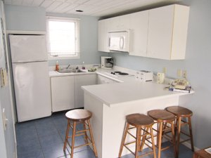 All rooms include a kitchen with a full size refrigerator, microwave oven, two burner cook top, Keurig coffee maker and a toaster