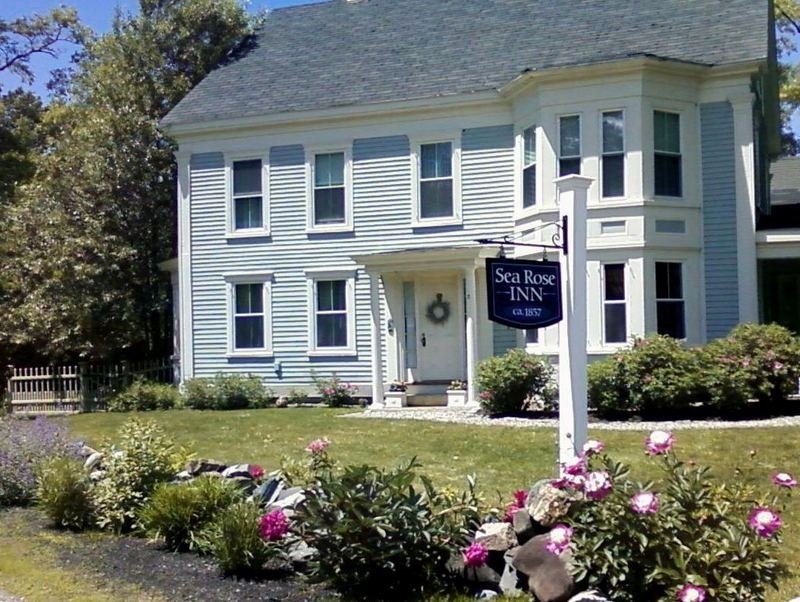 Sea Rose Inn, Historic B&B, Built in 1857. This home was a carriage stop for those traveling north, part of the Underground Railroad, and a trolley stop for travelers in the south of Maine.