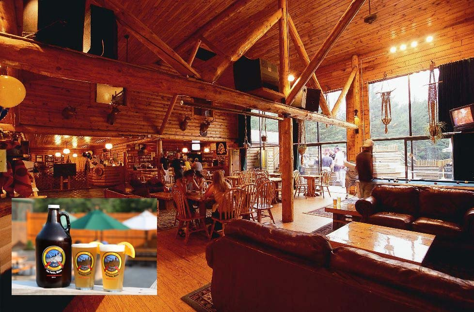 The main lodge at Northern Outdoors Adventure Resort is home to the Kennebec River Pub & Brewery.