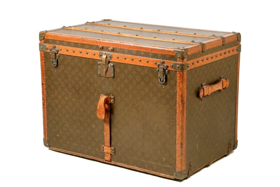 1931 Louis Vuitton crinoline trunk to be sold at Thomaston Place Auction Galleries on February 16, 17 & 18