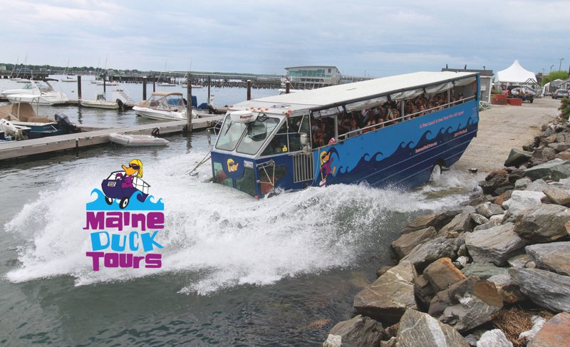 Splash in to Casco Bay! (passengers do not get wet)