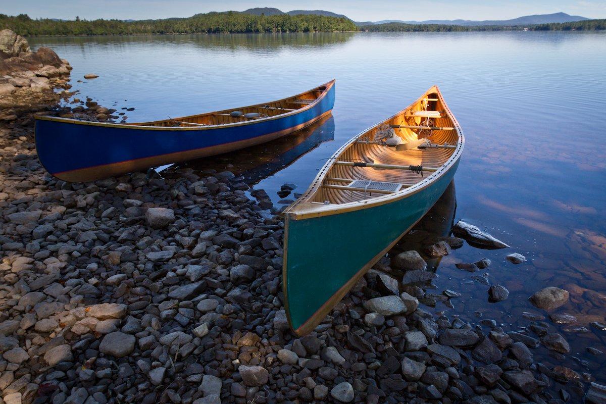 Canoes on Umbagog Lake