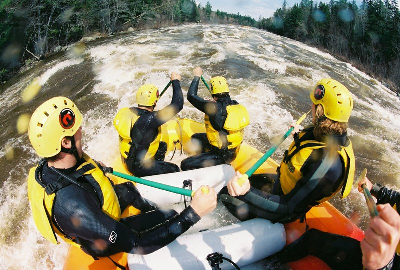 Whitewater rafting on Dead River.