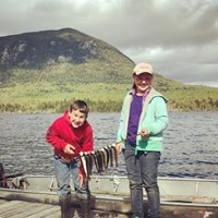 Kids fish off our docks or throughout the pond and are often rewarded with brook trout, bass, and bullhead