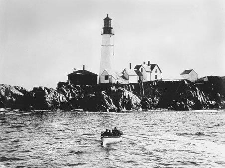 Historic Coast Guard photo of Portland Head Light taken prior to 1891