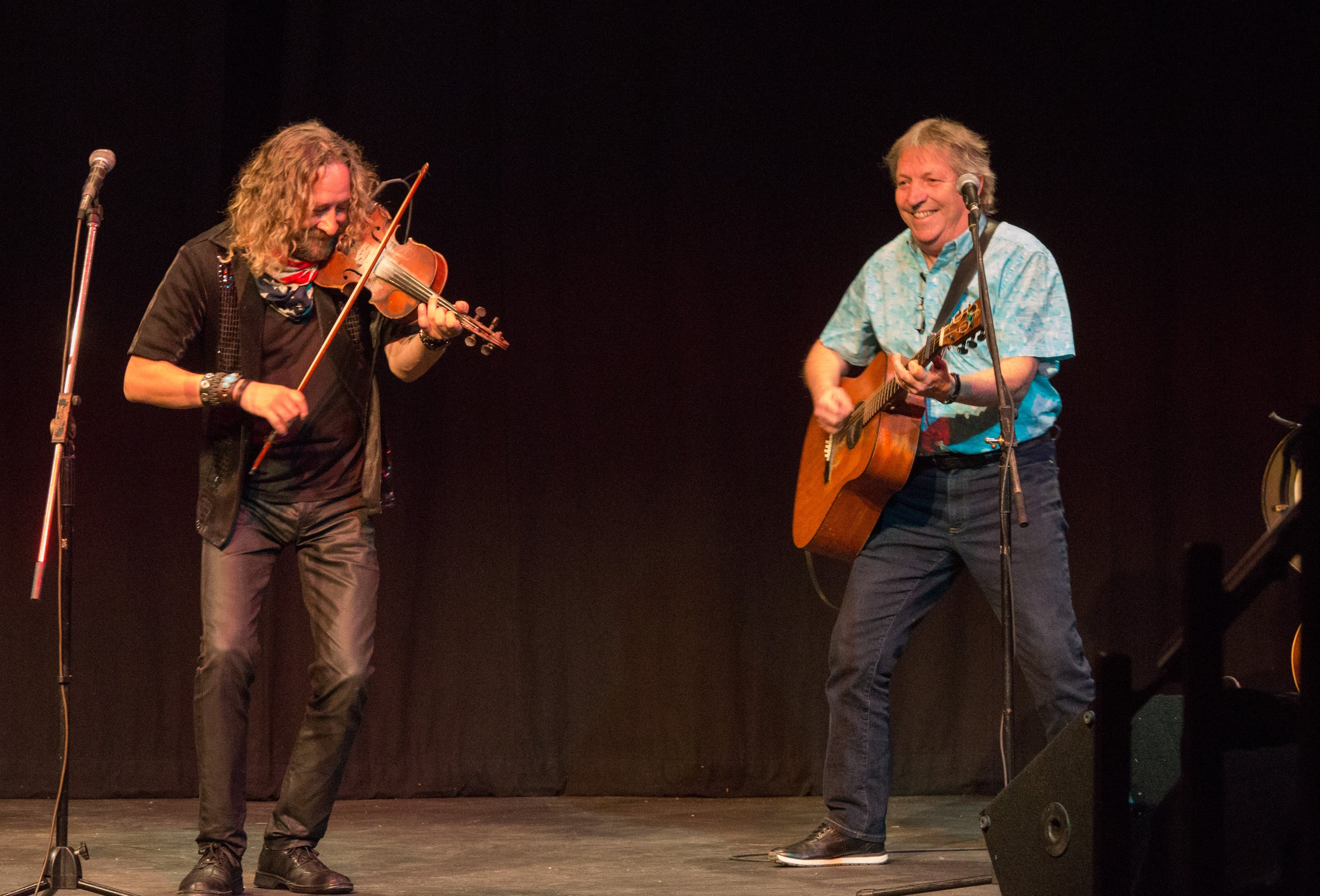 Richard Wood and Gordon Belsher, from Prince Edward Island, are shown during their second performance at EAC.