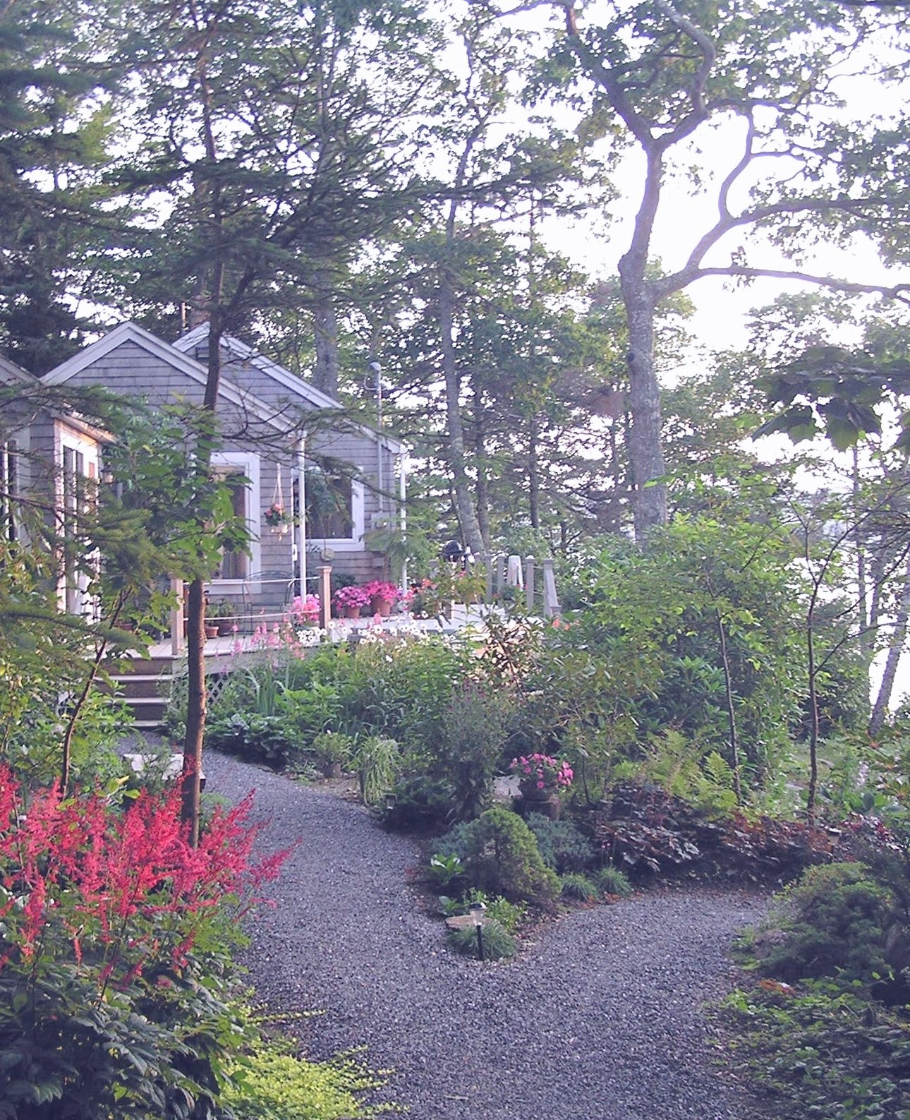 Paradise Cottage in the garden and overlooking Linekin Bay