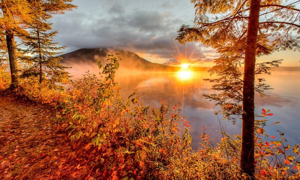 sunrise at Spencer Pond Camps
