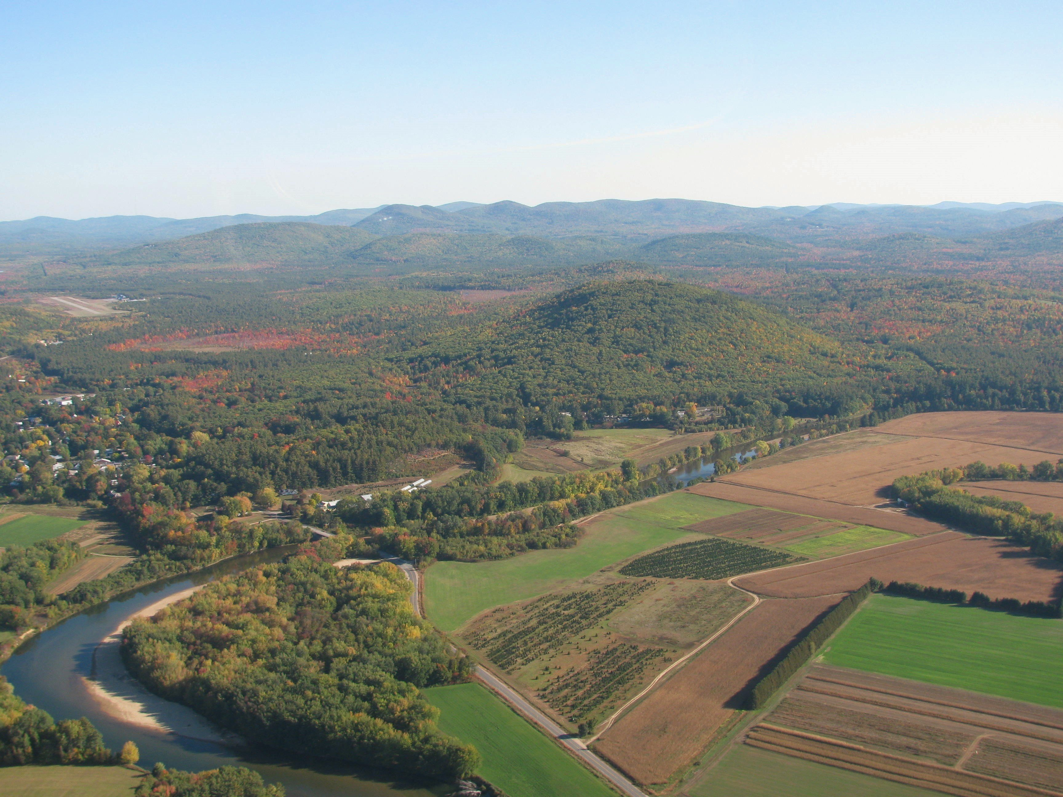 Western Maine fields and winding Saco River.