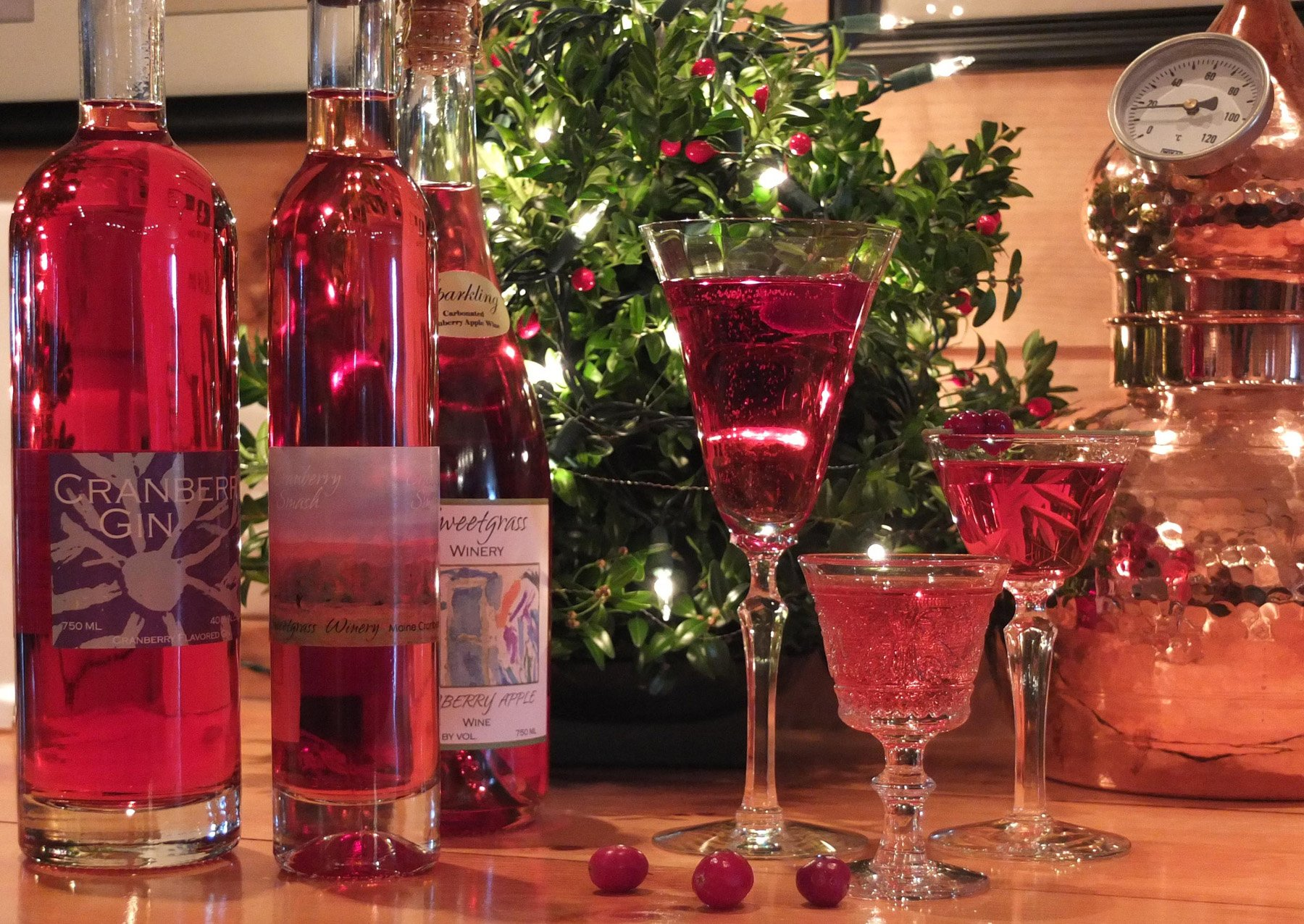 Maine wines and spirits make wonderful gifts, no wrapping and easy to share.