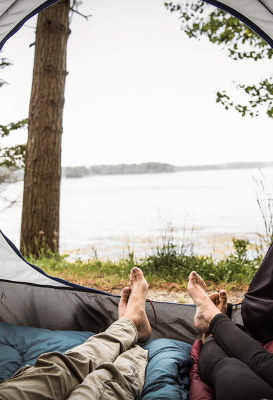 Get back to the simple life at a campsite in Maine.