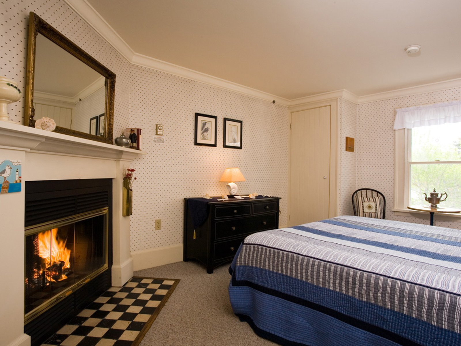 A room with a view (and fireplace!)