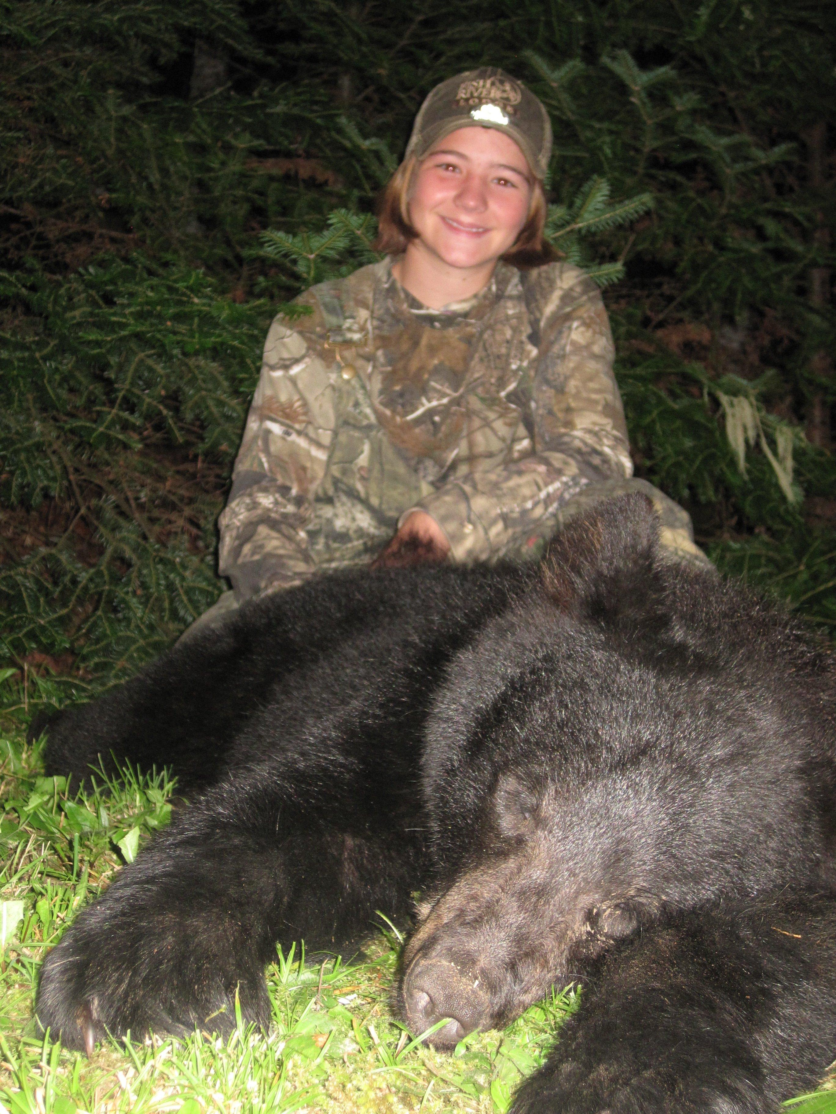 Hannah's black bear.