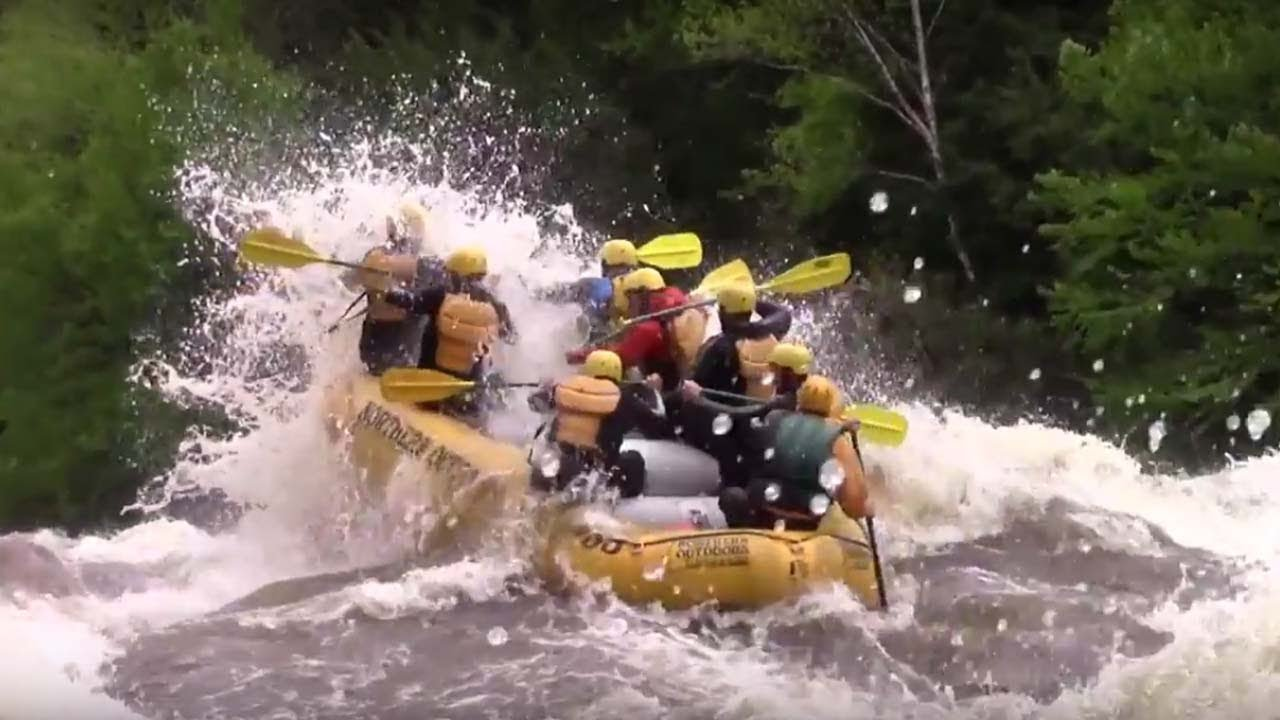 Huge whitewater excitement on the Dead River