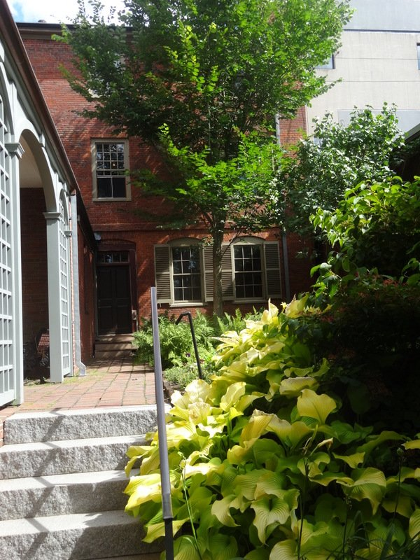 Looking up the garden towards the Wadsworth-Longfellow House