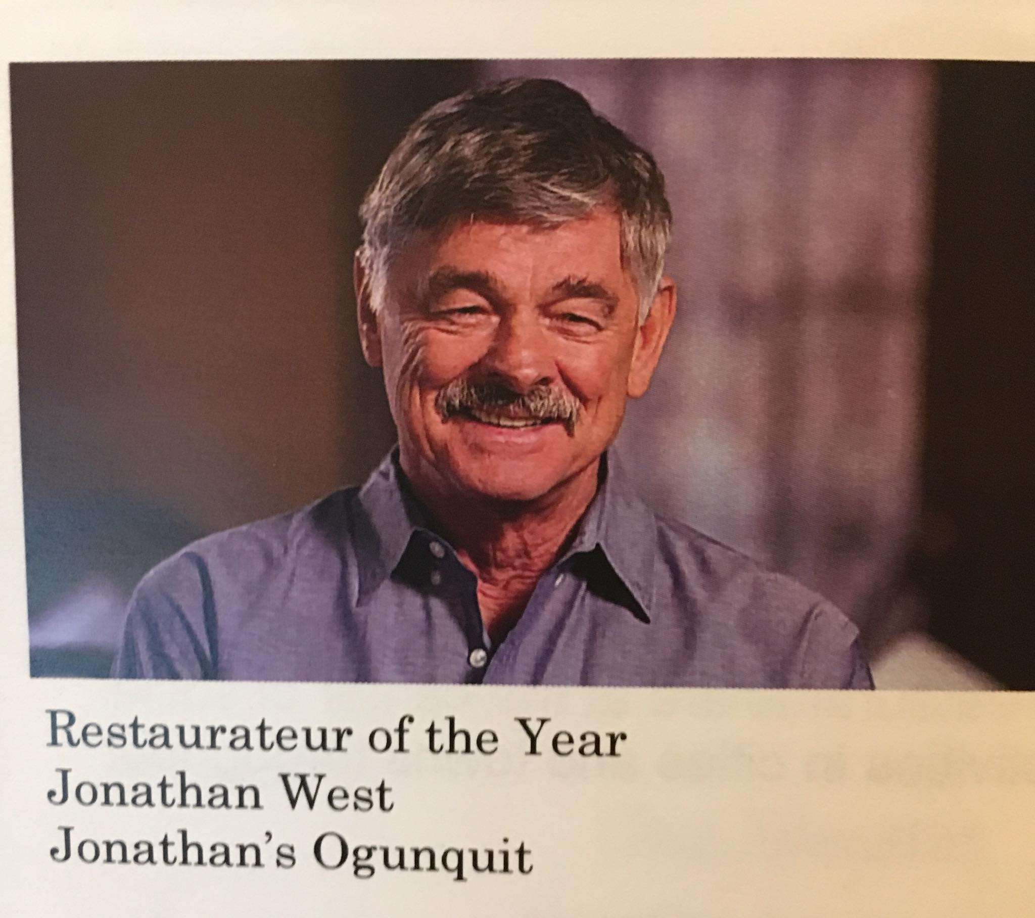 Voted Maine Restaurateur of the Year!