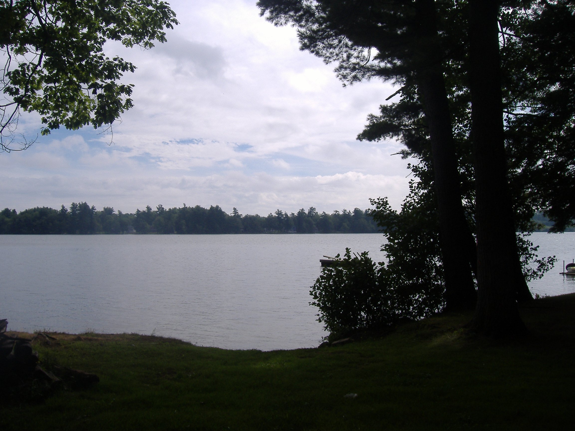 View of Lake from shared access point.