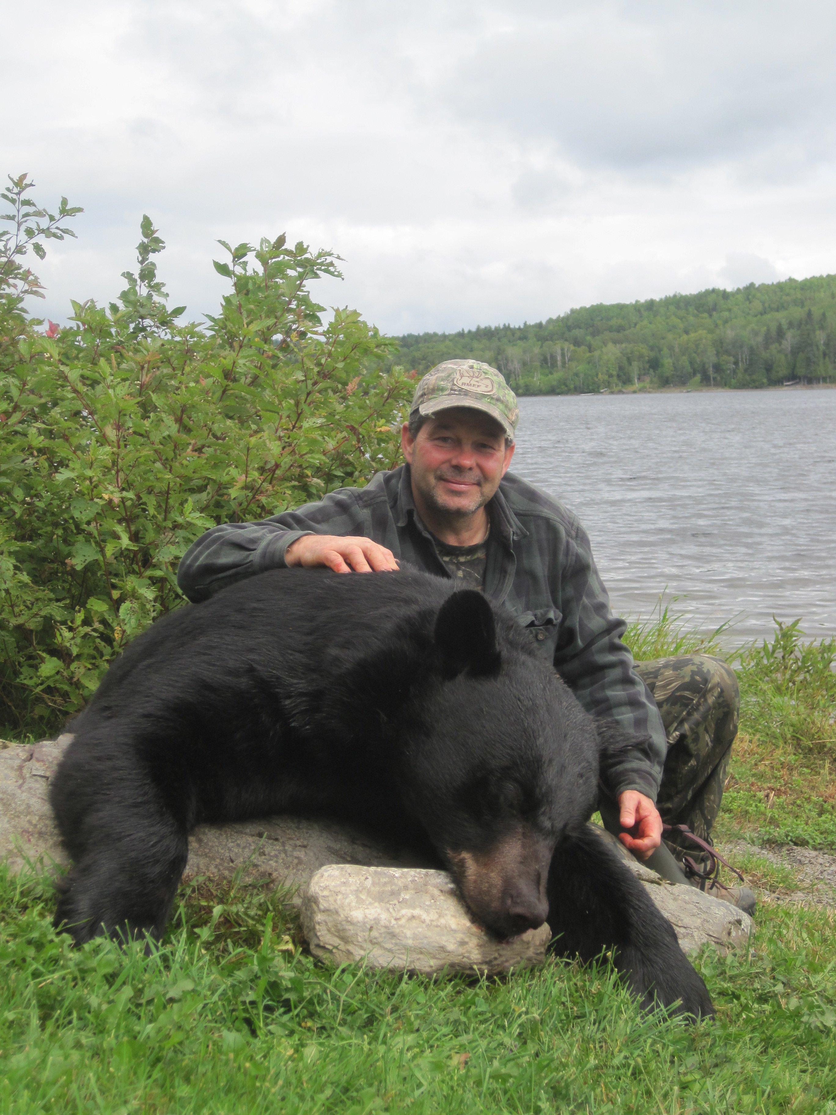 Duane's 403 lb. black bear.