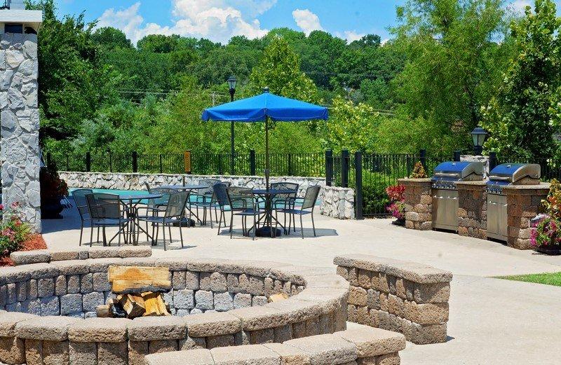 Maine timeshare resort patio