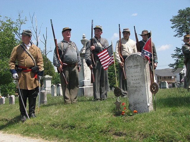 Honoring the Unknown Confederate Soldier in Gray Village Cemetery