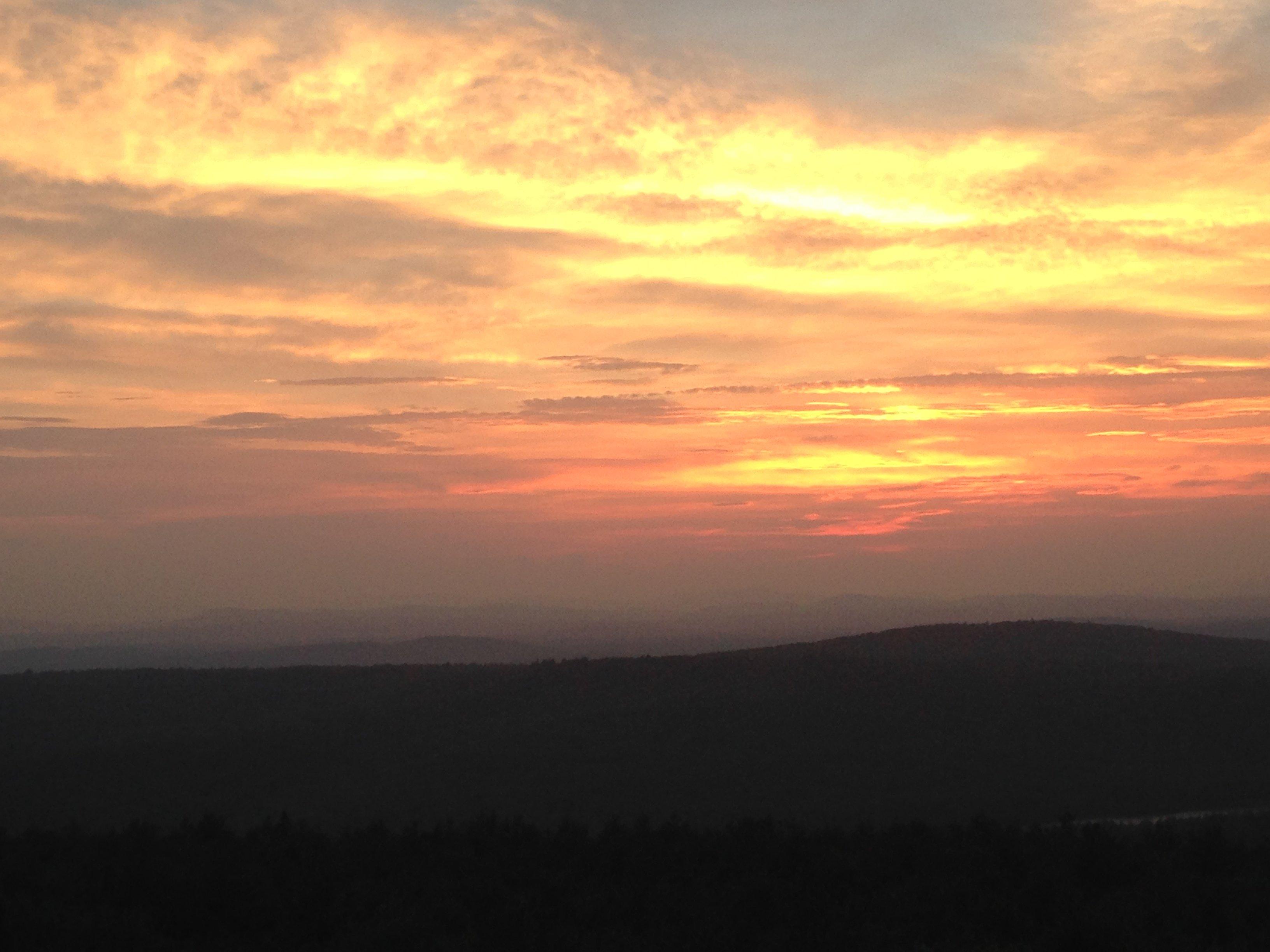 Sunset from Mt. Pisgah firetower