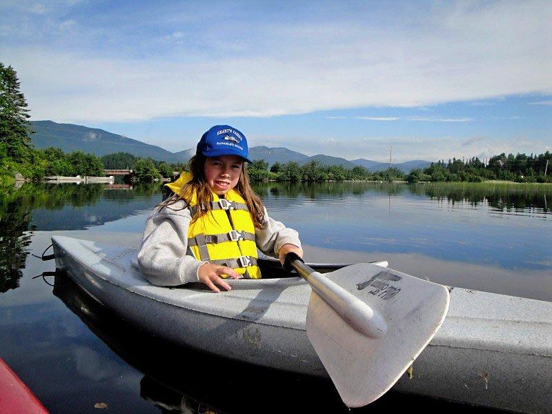 Plenty of kayaks to explore Lake Kennebago.