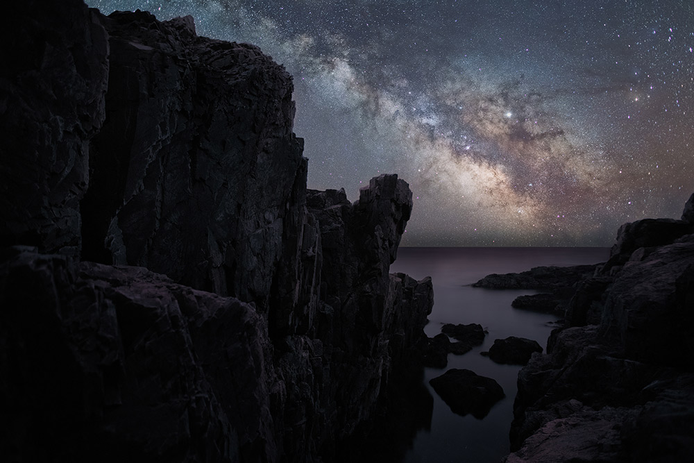 The night sky in Acadia National Park