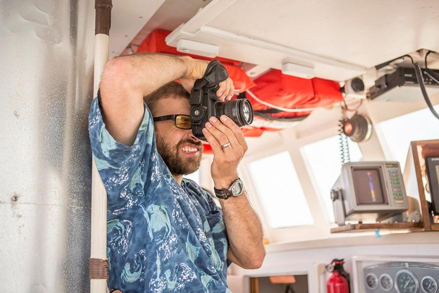 M/V MONHEGAN is a very stable platform for all kinds of photographers, from amateur to professional