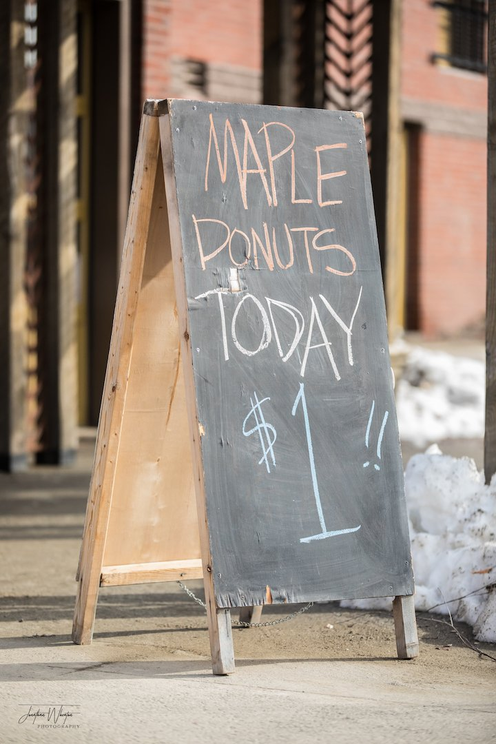 The Miller's Table offers hot coffee and fresh doughnuts on Saturday morning!