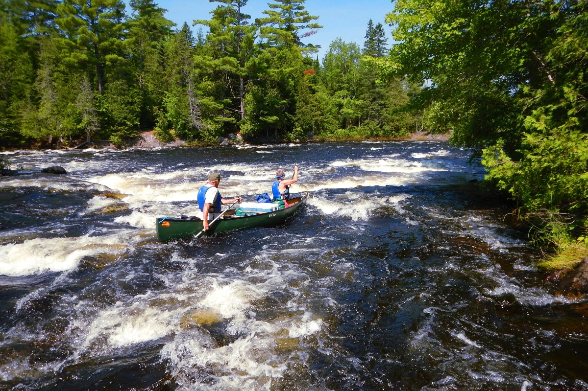 canoeing little falls on the saint croix river