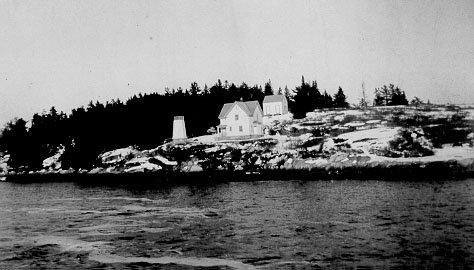 Historic Coast Guard photo of Perkins Island Light Station