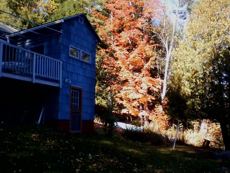Cottage deck and fall colors