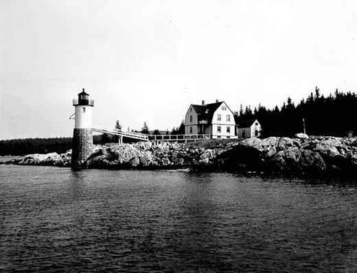 Historic Coast Guard photo of the Isle au Haut Light.