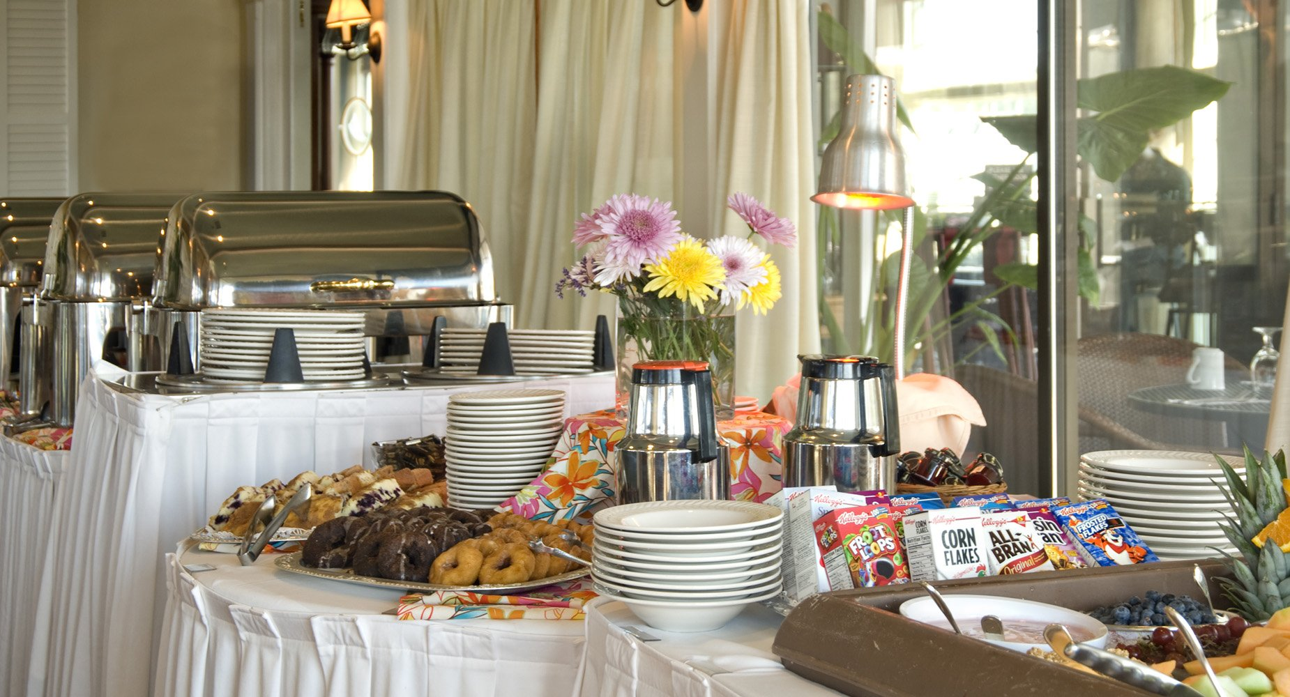 A hearty breakfast buffet is included in our rates.