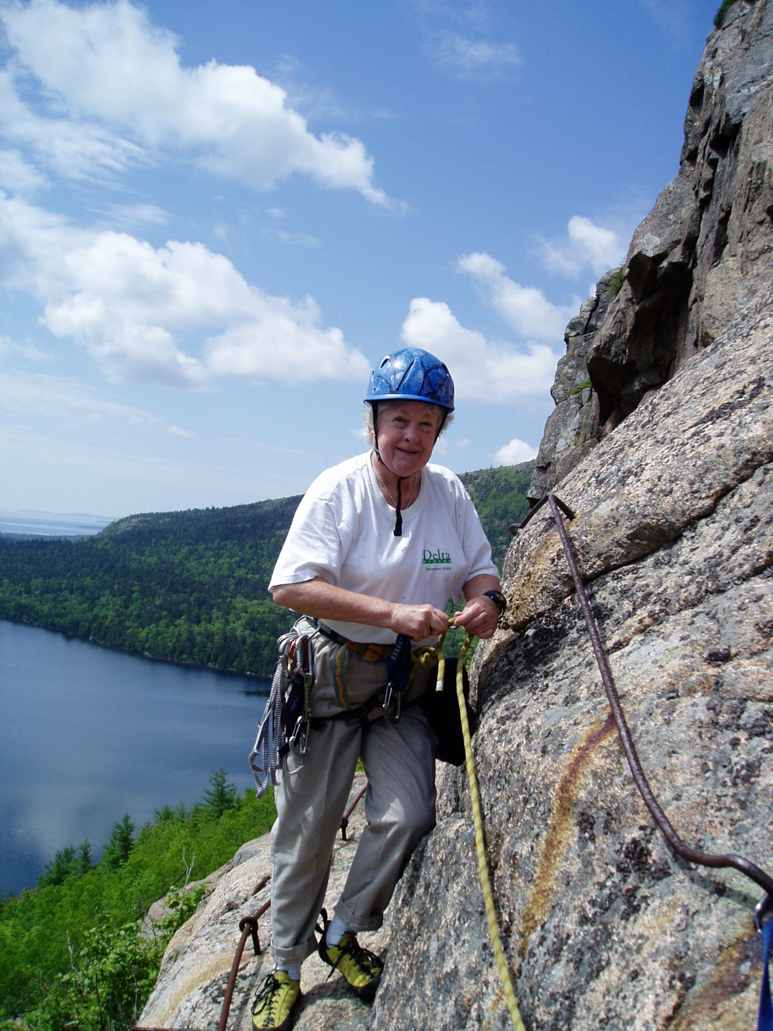 Another great day on the Bubbles. Climbing in Acadia National Park with Acadia Mountain Guides Climbing School.
