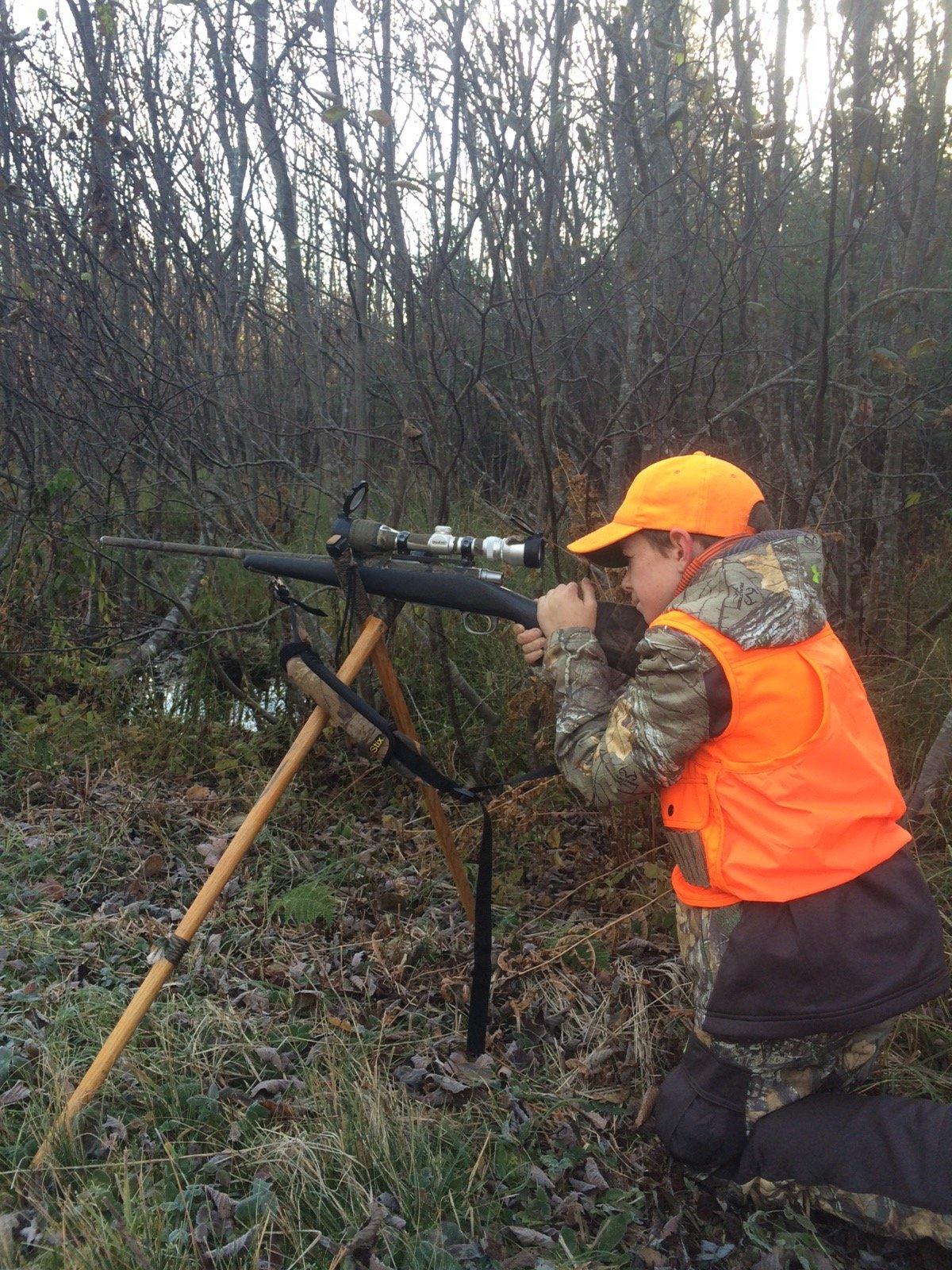 Taking careful aim!