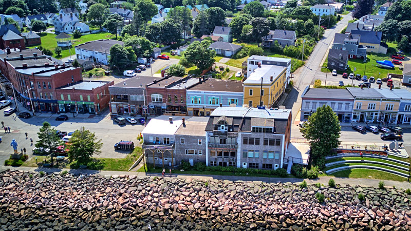 Historic Eastport waterfront