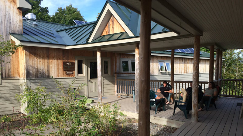 Spend your afternoons lounging around European-style cabins at Maine Huts & Trails.