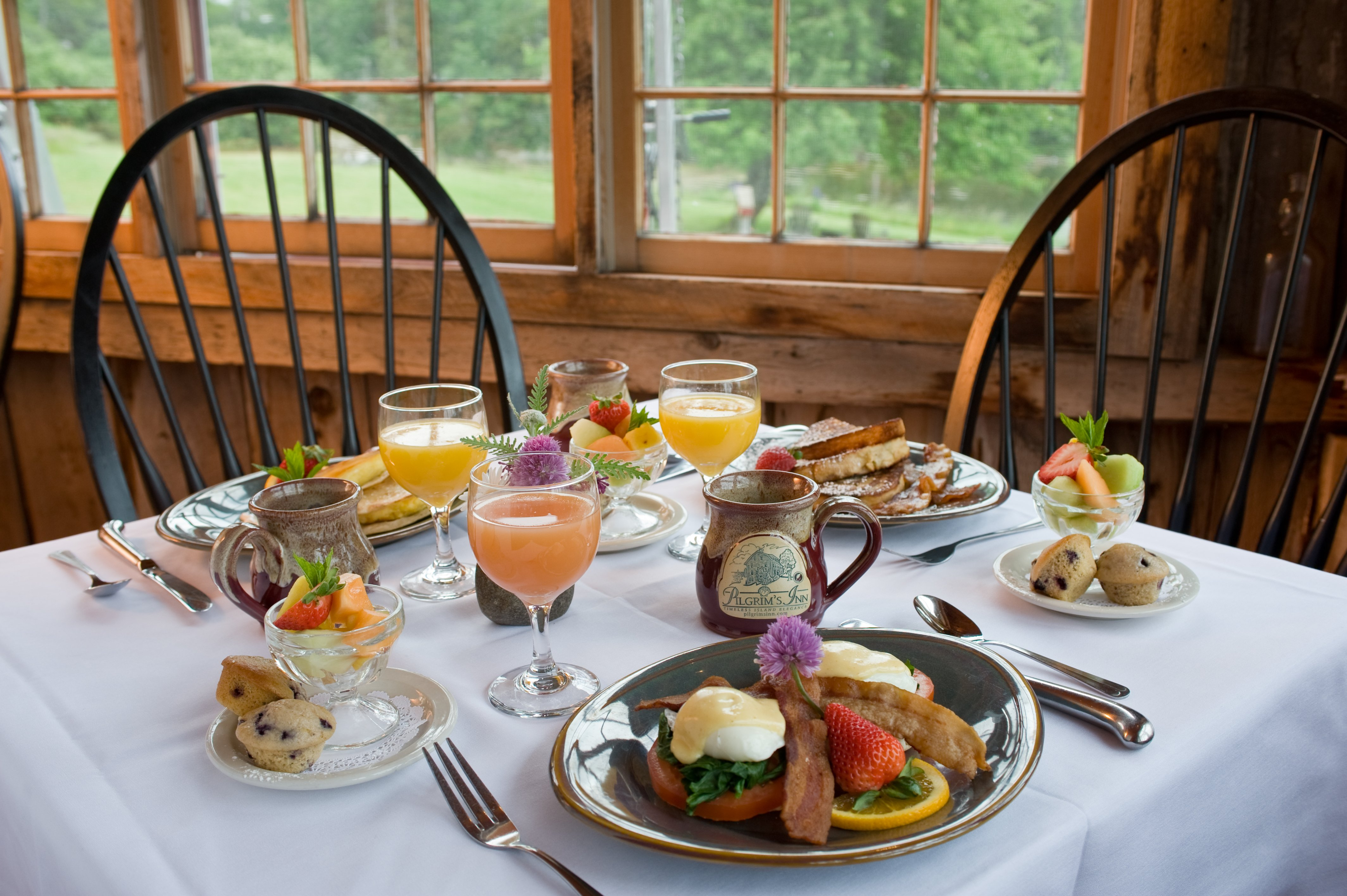 A delicious breakfast is served every morning at the Inn and is complimentary