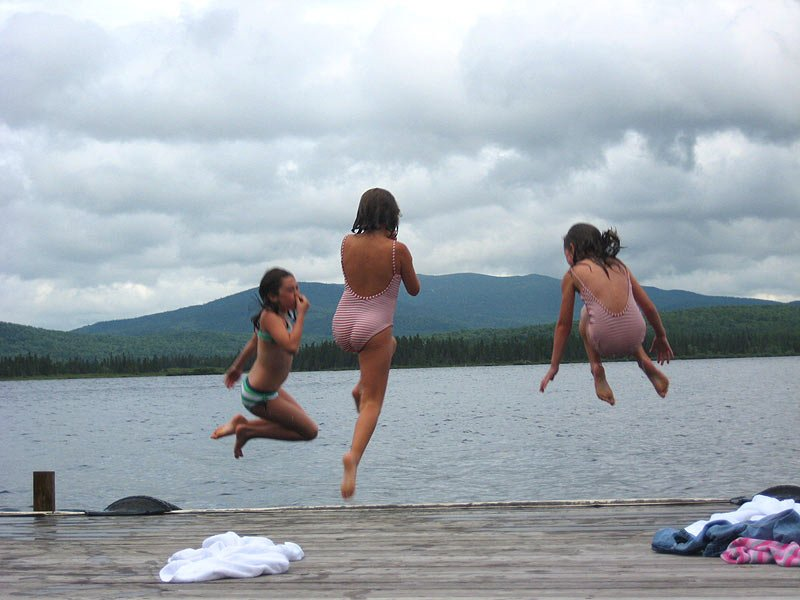 Enjoy your family vacation where swimming is just steps away from your cabin