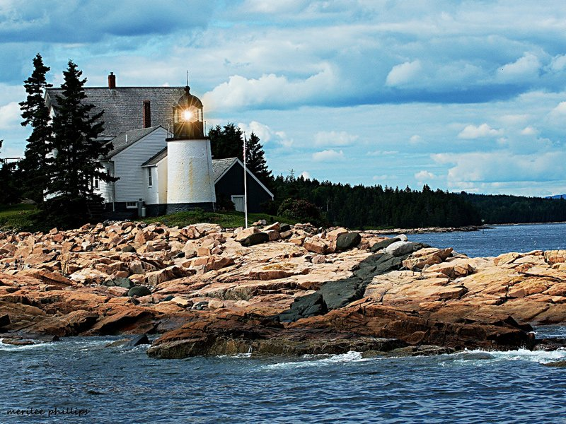 Winter Harbor lighthouse.