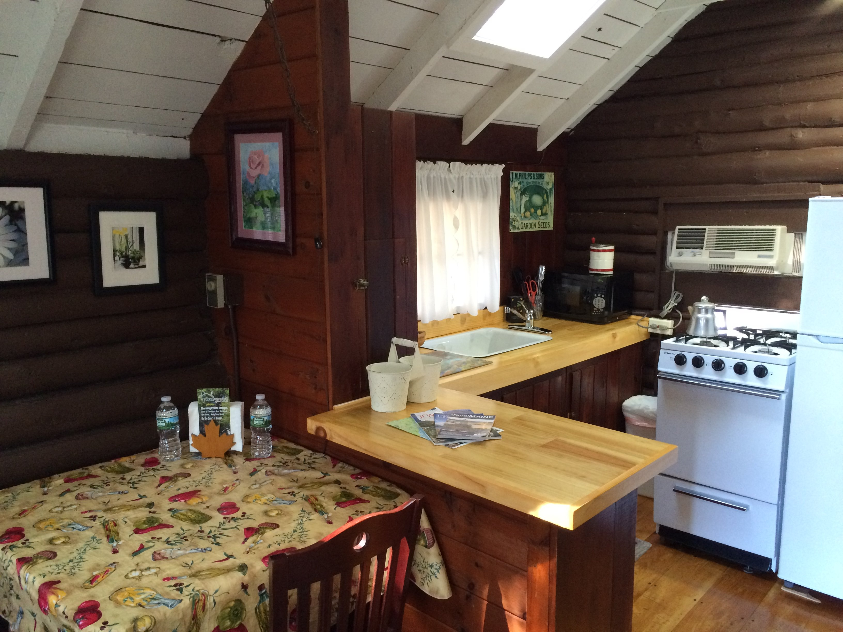 Fully furnished kitchen, perfect for meal prep, lobster cooking, or just some wine, cheese and crackers.
